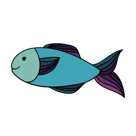 fish drawing over white background vector illustration Vector