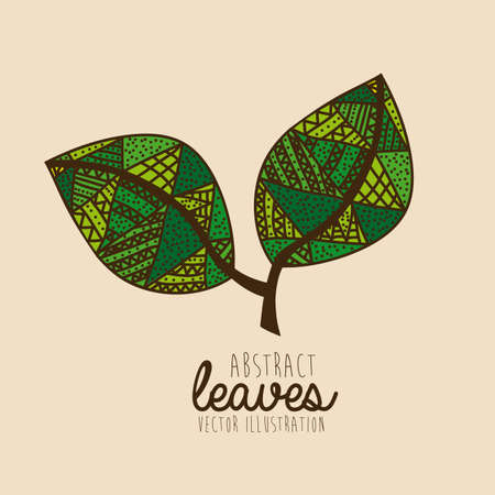 palitra: leaves drawing over pink background vector illustration