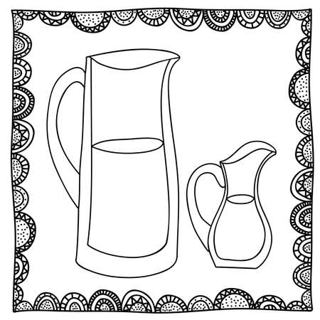 palitra: jugs drawing over white background vector illustration Illustration