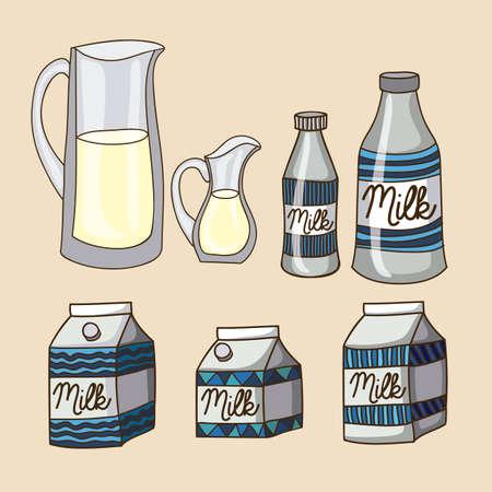 palitra: milk drawing over pink background vector illustration Illustration