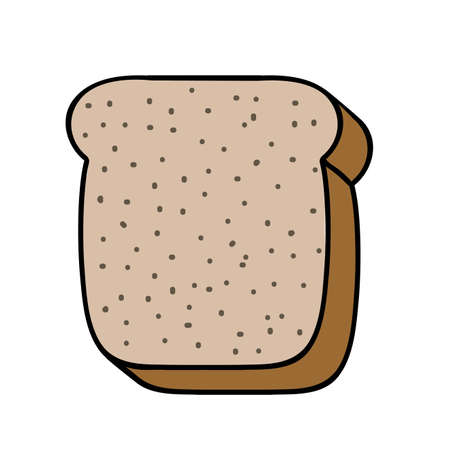 palitra: bread drawing over white background vector illustration