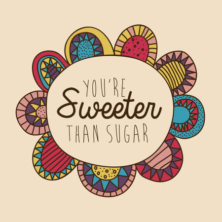 palitra: sweeter drawing over pink background vector illustration Illustration