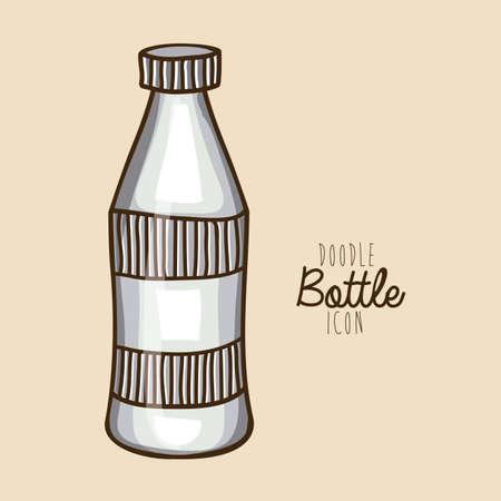 palitra: bottle drawing over white background vector illustration Illustration
