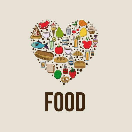 food design over beige background vector illustration  Vector