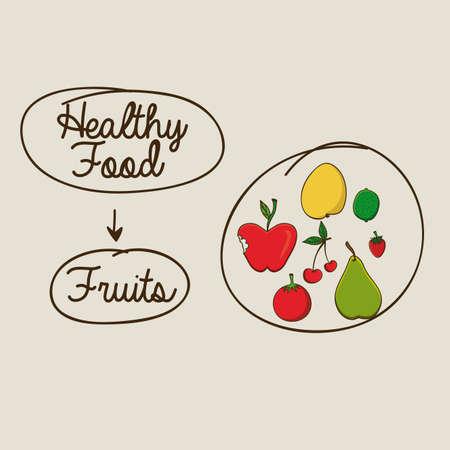 berryes: healthy food  design over beige background vector illustration  Illustration