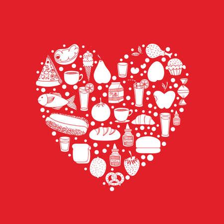 nutrition design over red background vector illustration