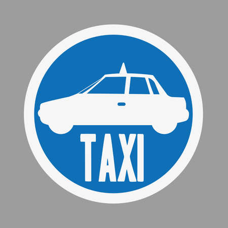 backgroud: taxi label  over gray backgroud vector illustration