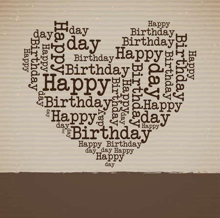 feliz cumpleaños sobre fondo lineal ilustración vectorial