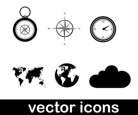 vector icons over white background vector illustration Vector