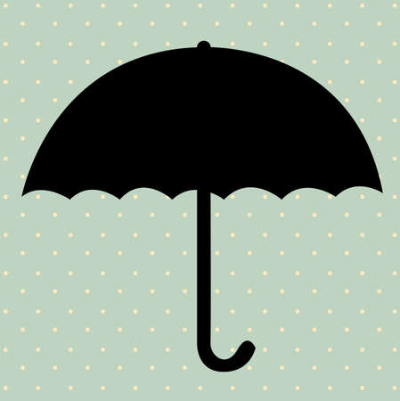 umbrella design  over blue background. vector illustration Vector