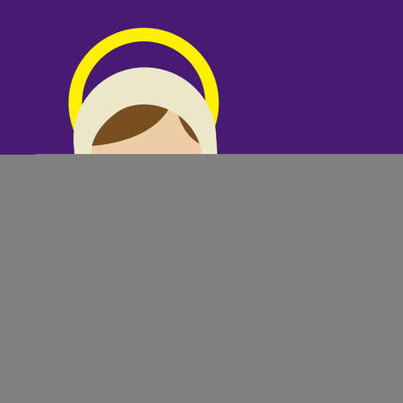 virgin mary  design over purple background vector illustration Stock Vector - 22894725