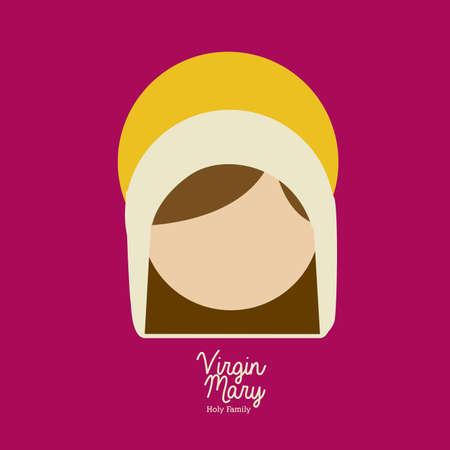 virgin mary  design over purple background vector illustration Stock Vector - 22894726