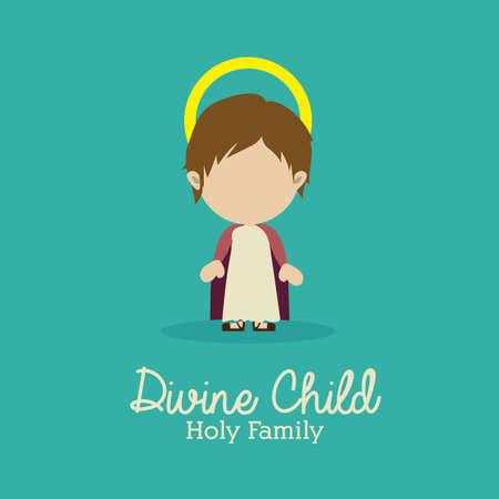 divine child design over blue background vector illustration Vector