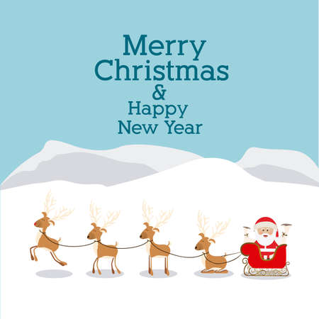 christmas design over landscape background vector illustration Vector