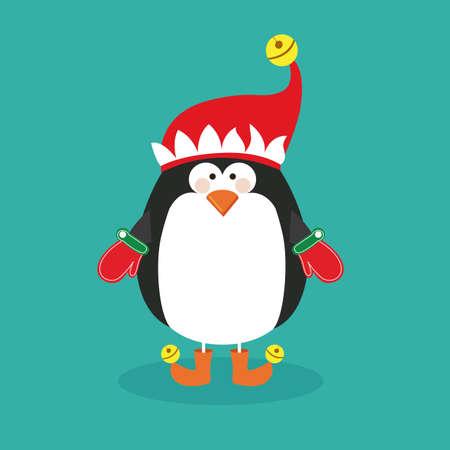 penguin design over blue background vector illustration Vector