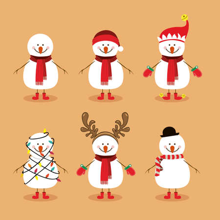 snowman design over background vector illustration