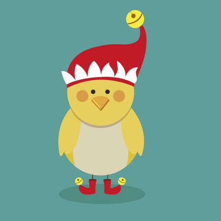 chicken design over blue  background vector illustration Vector
