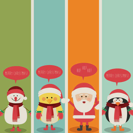 christmas design over colorful  background vector illustration  Çizim