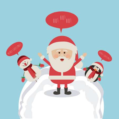 christmas design over  blue background vector illustration Stock Vector - 23010801
