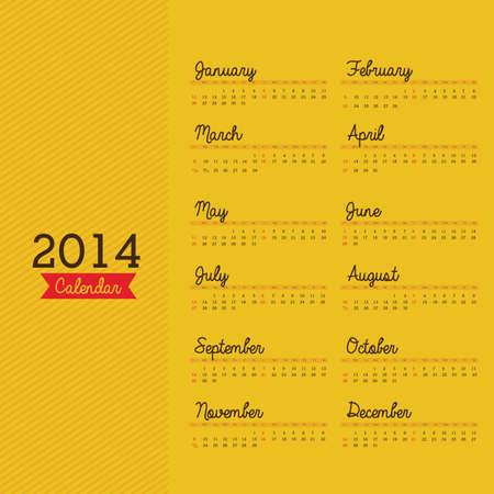 calendar design over yellow background vector illustration Stock Vector - 23167655