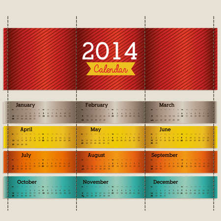 calendar design over beige background vector illustration Vector