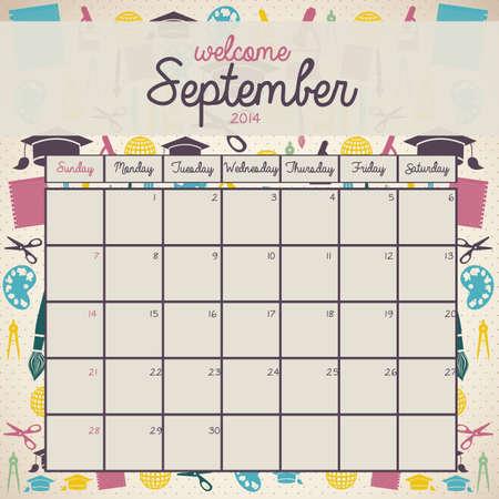 calendar design over beige background vector illustration Vector