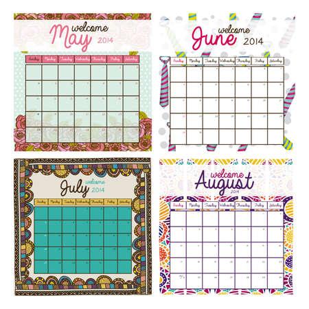 calendar design: calendar design over white background vector illustration Illustration
