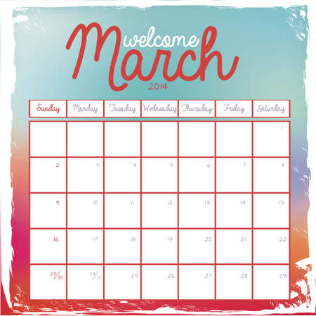 calendar design over white background vector illustration Stock Vector - 23167673
