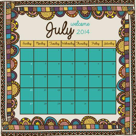 calendar design over floral background vector illustration Stock Vector - 23167702