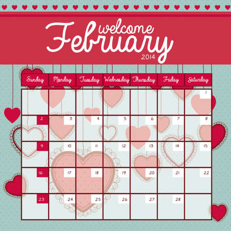 calendar design over blue background vector illustration Vector