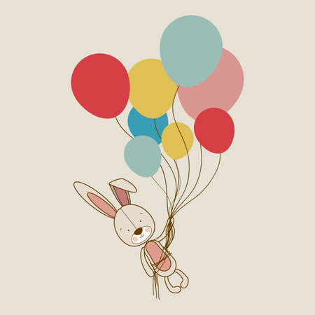 bunny design over beige  background vector illustration  Vector
