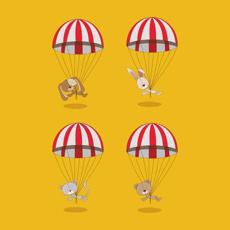 animals design over yellow background vector illustration Vector Illustration