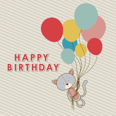 birthday design over lineal  background vector illustration  Vector
