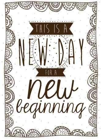 new day: nuovo giorno su sfondo illustrazione vettoriale Vettoriali