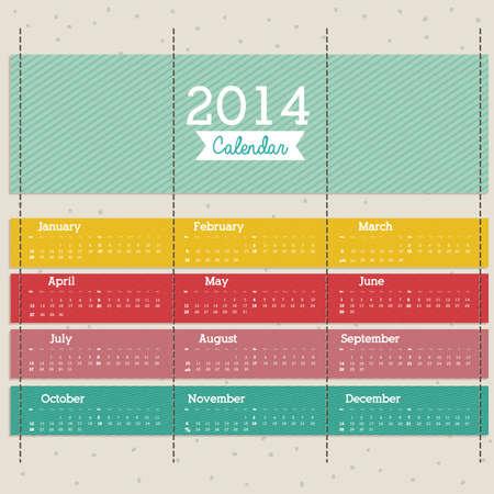 calendar design: calendar design over pattern  background vector illustration