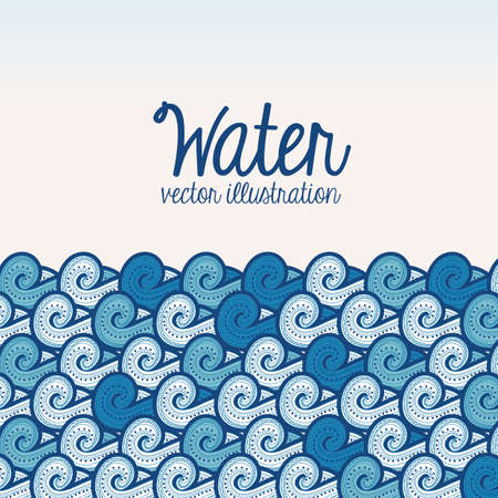 environmental awareness: water design over white background vector illustration Illustration