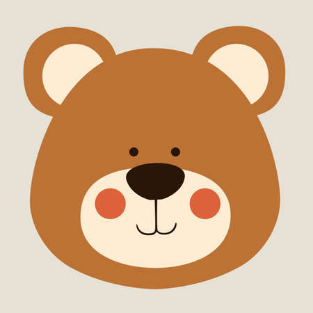 bear design over beige background vector illustration