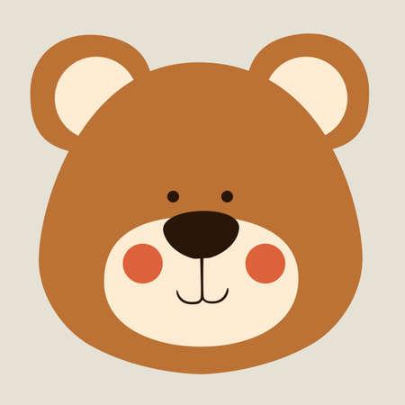 oso caricatura: soportar el diseño sobre fondo beige ilustración vectorial Vectores