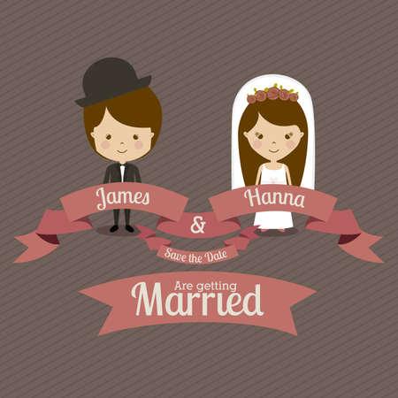 married design over  gray background vector illustration Vector