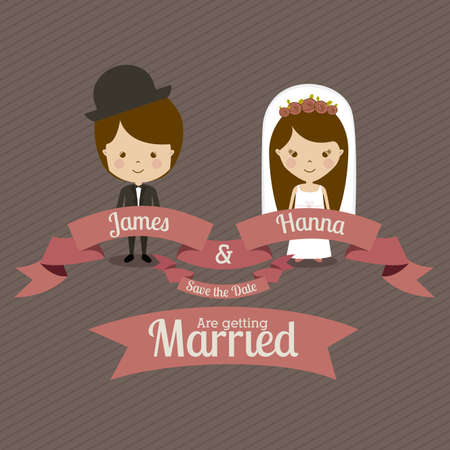 nuptial: married design over  gray background vector illustration