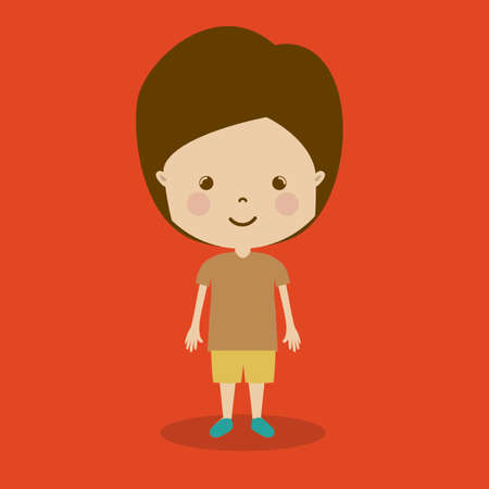 camaraderie: boy design over red background  vector illustration