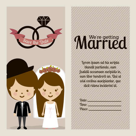 married design over purple background vector illustration Vector