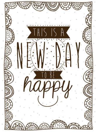 new day: nuovo giorno su sfondo bianco illustrazione vettoriale