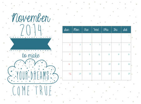 calendar design over white background vector illustration Vector
