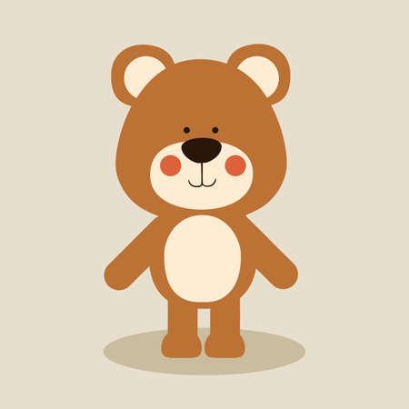 tender: bear design over beige background vector illustration