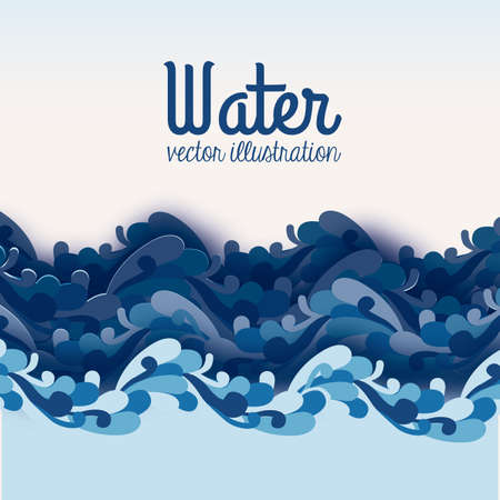clear water: water design over blue background vector illustration