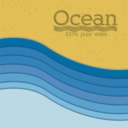sand background: ocean design over sand background vector illustration