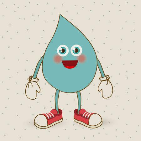 water design over beige background vector illustration