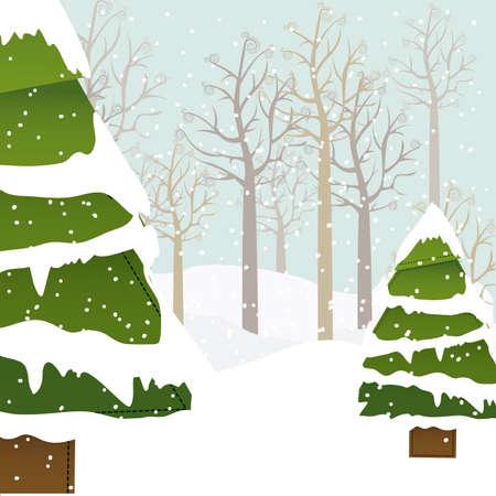 snowscape: christmas design over snowscape  background vector illustration Illustration