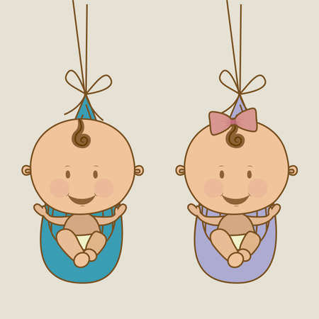 baby arrival design over beige background vector illustration